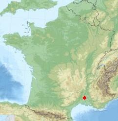Plan de situation du pont du Gard- Fond de carte relevé sur Internet