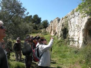 Au cours d'une visite des aqueducs d'Arles, samedi 9 avril 1016- Académie pont du Gard- Cliché C. Larnac