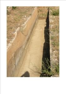 Tronçon d'aqueduc au Domaine de l'Aqueduc à saint-Maximin